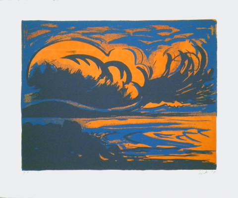 "Hannes Hofstetter, ""Bay"",1988,  screen print"