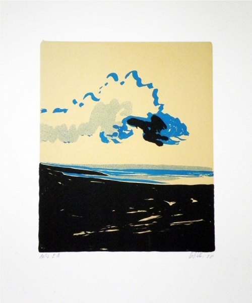 "Hannes Hofstetter, ""Cloud"",1981,  screen print"